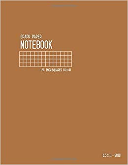 amazon com graph paper notebook 8 5 x 11 1 4 inch squares brown