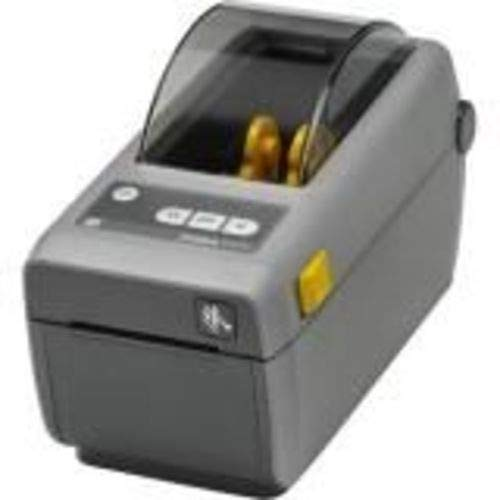 Zebra - ZD410 Wireless Direct Thermal Desktop Printer for Labels, Receipts, Barcodes, Tags, and Wrist Bands - Print Width of 2 in - USB, Ethernet, Bluetooth Low Energy Connectivity