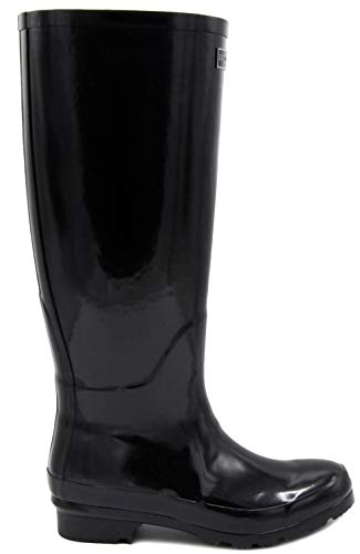Rain Fog Thames Black Womens Shiny Boot London zftwpwq
