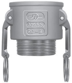 PT Coupling Stainless Steel Cam and Groove Coupling Part B Coupler x Male NPT Thread | Made in USA, 8in by PT Coupling