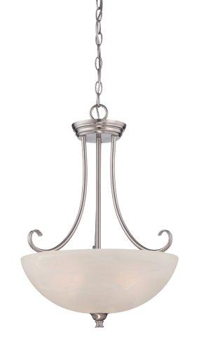 Designers Fountain 85131-SP Kendall Inverted Pendant, Satin Platinum