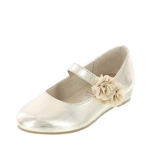 - Disney Princess Gold Girls' Toddler Flower Wedge Dress Shoe 12.5 Regular