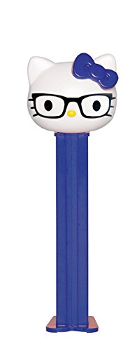PEZ Hello Kitty Nerdy Kitty Dispenser and 3 Candy Refills -