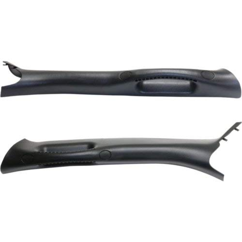 Grab Handle Set of 2 for Dodge Full Size P/U 02-09 Front Right and Left Side A Pillar Trim Moulding Black Plastic