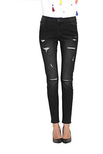 Zipper Pocket Denim Flare Pant - 6