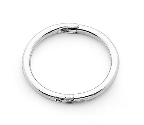 365 Sleepers Solid Sterling Silver SINGLE 5/16 (8mm) 18G Hinged Sleeper Hoop Unisex Earring Nose Ring Made in Australia