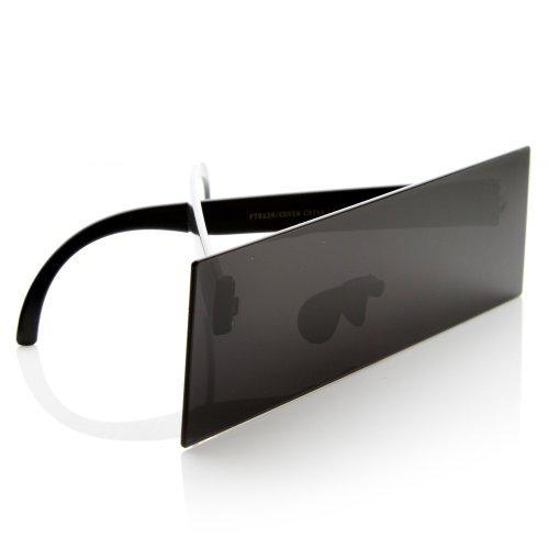 zeroUV - Internet Censorship One-Piece Black Bar Novelty Sunglasses - Bar Glasses Black