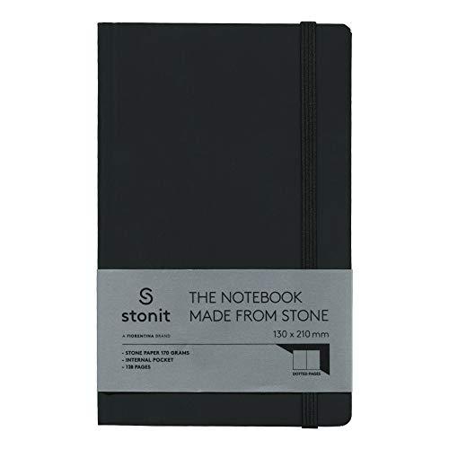 Stonit Hard Cover Dot Notebook - Black 5 x 8 (ST002-B)