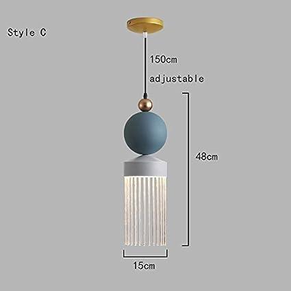 HLIGHT Nórdico de Cristal LED de la lámpara Colgante Lustre Luces Colgantes romántica lámparas de iluminación lámparas Modernas Restaurante Cuerpo de iluminación,A: Amazon.es: Hogar