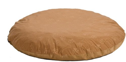 MidWest 34-Inch Round Eko Cover and Liner, Tan Paw Print