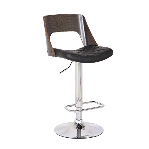 AC Pacific ACBS05-B-GW ACBS05 Bar Stool Weathered Oak