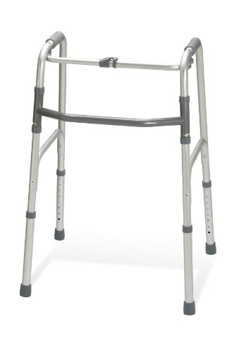 Medline G30760P Adult One-Button Folding Walkers
