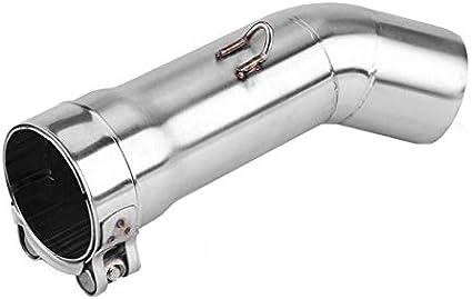 R600//GSX-R750 K6 Tubo de escape Tubo medio de escape de la motocicleta Sistema de escape completo Enlace de tubo medio de ventilaci/ón Conectar para SuzukiGSX