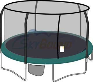 15-ft-Frame-Size-Round-Replacement-Trampoline-Net-for-5-Staight-Pole-Enclosure-System-by-Bazoongi