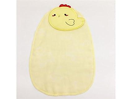 QWhing Toallita cómoda Bebé de Dibujos Animados Bordado Sudor Absorbente Absorbente Gasa Toalla Sudor Toalla para
