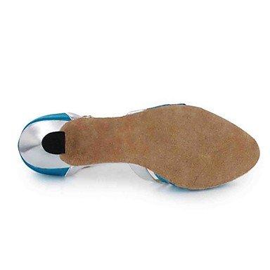 blue Negro Personalizables Rojo Azul baile Oro Personalizado Morado Tacón Zapatos de Marrón Latino EqHwx7z