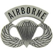 Metal Lapel Pin - US Army Pin - US Army Airborne Paratrooper Wings 1-1/2