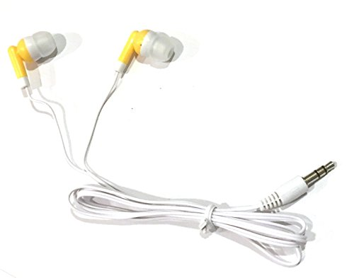 TFD Supplies Wholesale Bulk Earbuds Headphones 100 Pack For Iphone, Android, MP3 Player - Yellow/Gold