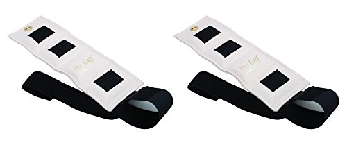 - The Cuff Original Ankle and Wrist Weight - 2 Pound, White - Set of 2