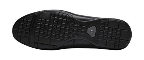 Shenbo Arow Vip Mens Äkta Läder Loafers Svart