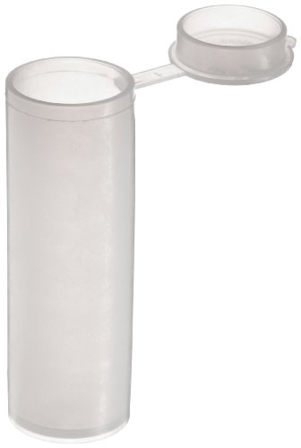 Dynalon 226245-02 LDPE 2.5mL Lab Sample Vial, with Attached Snap Cap (Case Of 100)