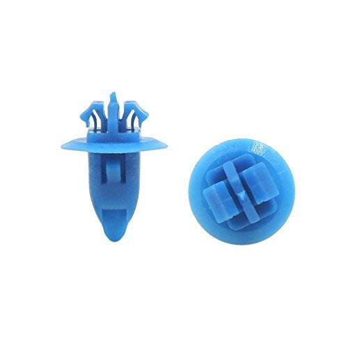 Amazon.com: eDealMax Clips 50Pcs remaches de plástico de ruedas Ala Fender llamarada Azul guarnecido del paso de Molduras DE 8 x 11 mm: Automotive