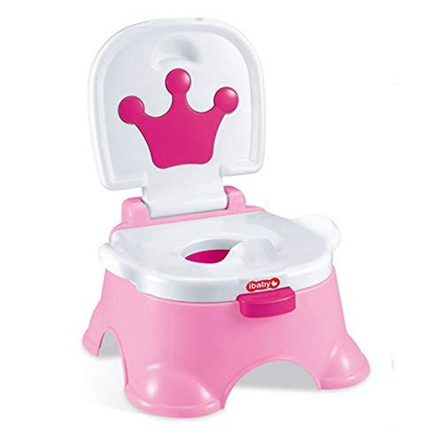 CMrtew Portable Baby Potty Cut Cartoon Musical Baby Toilet Car Children's Potty Child Potty Chair Training Girls Boy Kids Toilet Seat (Pink, 33x33x44cm)