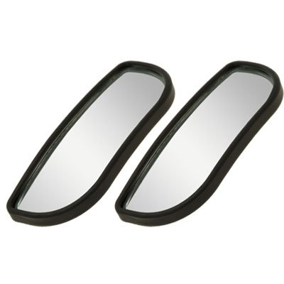 uxcell 2pcs Universal Black Car Auto Wide Angle Side Rearview Blind Spot Mirror