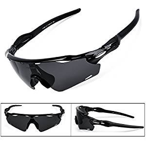 BATFOX Polarized Sports Sunglasses Tac Tactical Glasses Lenses Comfortable Silicone Leg tr90 Unbreakable Frame for Running Cycling Baseball Fishing Driving 100% UV Protection (Colorful, F-868)