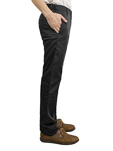 Pantalones Largos para Hombre, Casual, Corte Delgado Negro 1