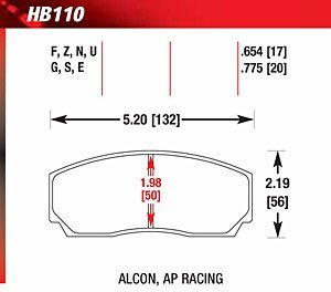 Hawk Performance HB110E.775 Auto Part