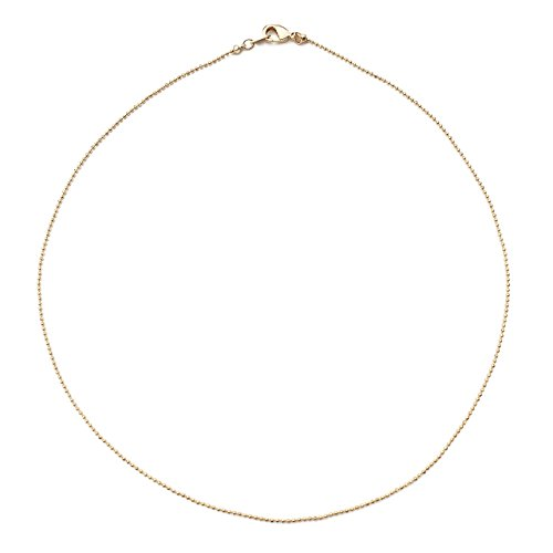 HONEYCAT 24k Gold Plated Thin Ball Chain Choker Necklace | Minimalist, Delicate - Gold Chain Ball Plated