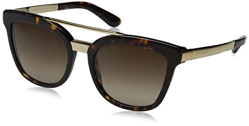 D&G Dolce & Gabbana Women's 0DG4269 Square Sunglasses, Havana/Brown, 54 mm