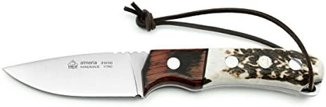Puma IP Almeria Staghorn and Palisander Wood Spanish Made Hunting Knife with Leather Sheath