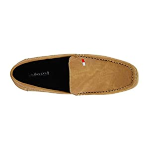 LeatherKraft Men's Denim Loafer