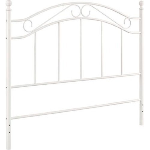 White Bed Mainstays Fits Full/Queen Metal Headboard Frames by Mainstays