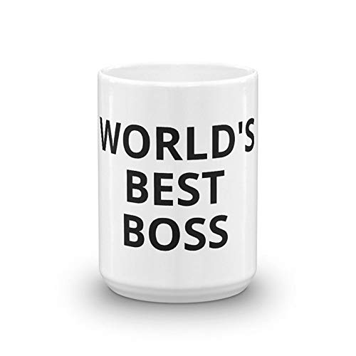 World's Best Boss The Office Michael Scott Coffee Mug TV Show Prop Halloween Costume Dunder Mifflin Paper Company Inc Office Work Gift Idea
