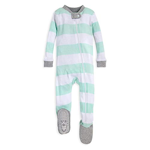 Burt's Bees Baby Baby Boys' Unisex Pajamas, Zip-Front Non-Slip Footed Sleeper PJs,...
