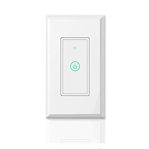 meross Smart Wi-Fi Light Switch, Amazon Alexa and Google Assistant Supported, Fit for US/CA Wall, Remote Control with Timing Function, No Hub Needed, White (MSS510 1 Pack), WiFi 1pack