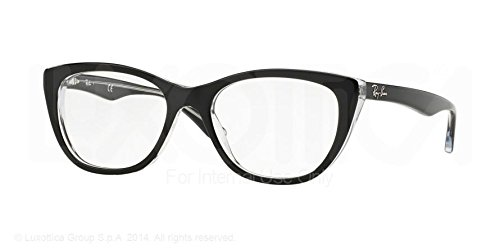 Ray-Ban Eyeglasses RX5322 2034 Top Black On Transparent 51 18 - Frames Glasses Ray Ban Eye Cat