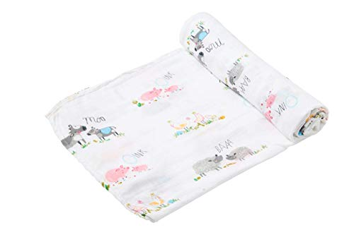 Angel Dear Farm Yard Muslin Swaddle Blanket