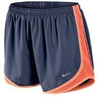 NIKE Printed Tempo Ladies Shorts (X-Small, Blue/Orange)