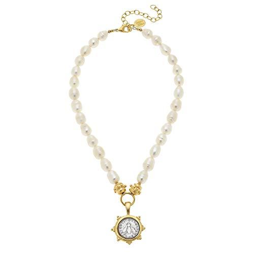 Antonio Gold San Coins (Susan Shaw Bee Coin Pearl Necklace)