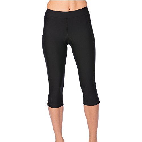 Terry Women's Spinnaker Cycling Knickers - Ladies Lightly Padded Bicycle Bottom, Indoor Outdoor Relaxed Bike Capri Perfect for The Gym or Training - Black - Medium