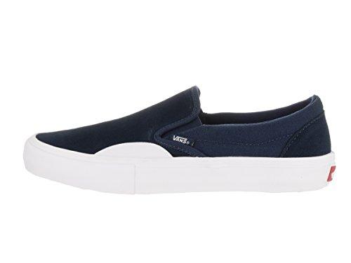 Vans Hombres del slip-on Pro (goma) Skate zapatos Dress Blues/White