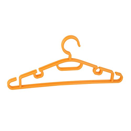 uxcell Plastic Household Coat Clothes Drying Rack Hanger Hol