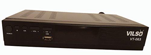 Tv Turner Card (Vilso VT-063 ATSC Digital TV Multi-Function Digital Converter Box HDTV Converter Box - HDMI Cable)