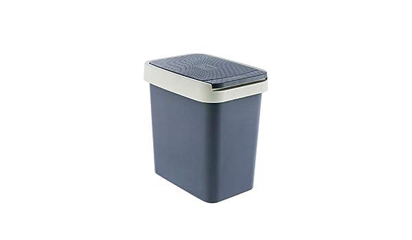 aseo Cubo de basura grande rectangular BombeCover de LANJ sal/ón para cocina creativo