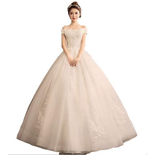 Elegant wedding dress Women Off Shoulder Applique Floor Length Ball Gown Wedding Dress Princess Quinceanera Corset Lace Bridal Dresses Evening Prom Party Dress Photo Dress evening dress