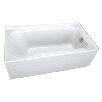 ProFlo PFS6042LSK 60u0026quot; X 42u0026quot; Alcove Soaking Bath Tub With Skirt  And Left Hand